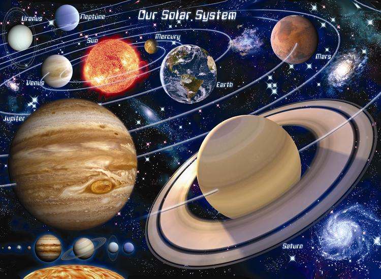 Солнечная система - художественная интерпретация
