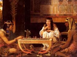 Картина на сюжет Древнего Египта - игра в шахматы