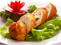 Куриная грудка с салатом